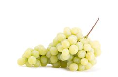 Bunch of grapes. On white stock photo