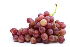 Bunch of grapes (. Cardinal breed) isolated on the white background Royalty Free Stock Image