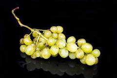 Bunch of grapes on black Royalty Free Stock Photography