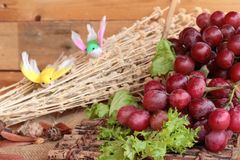 Bunch of grapes fruit  juicy fresh delicious. Royalty Free Stock Photos