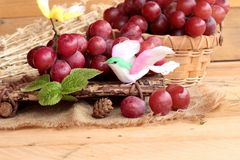 Bunch of grapes fruit  juicy fresh delicious. Royalty Free Stock Photography