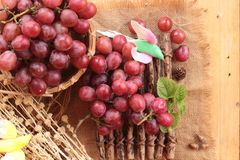 Bunch of grapes fruit  juicy fresh delicious. Stock Images