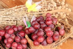 Bunch of grapes fruit  juicy fresh delicious. Royalty Free Stock Images