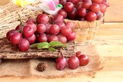 Bunch of grapes fruit  juicy fresh delicious. Royalty Free Stock Photo