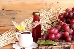 Bunch of grapes fruit  juicy fresh delicious and red wine. Royalty Free Stock Photo