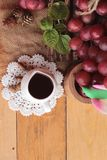 Bunch of grapes fruit  juicy fresh delicious and red wine. Stock Photography