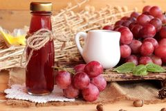 Bunch of grapes fruit  juicy fresh delicious and red wine. Royalty Free Stock Photos
