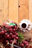 Bunch of grapes fruit  juicy fresh delicious and red wine. Stock Photo