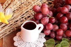 Bunch of grapes fruit  juicy fresh delicious and red wine. Royalty Free Stock Image
