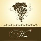 Bunch of grapes for labels of wine. For bottle cask barrel ceg Royalty Free Illustration