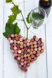 Bunch of grapes made of wine cork. Picture of stylized bunch of grapes made of wine cork Stock Images
