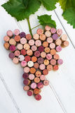 Bunch of grapes made of wine cork. Picture of stylized bunch of grapes made of wine cork Royalty Free Stock Photography