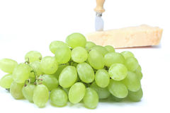 Bunch of grapes and Parmesan Stock Image