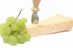 Bunch of grapes and Parmesan Royalty Free Stock Photography