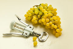 Bunch of grapes. Resting on a light background Royalty Free Stock Photo