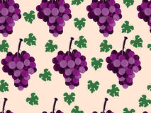 Bunch of grapes. Set of seamless patterns. Wallpapers with grape. S. Vector Royalty Free Stock Photo