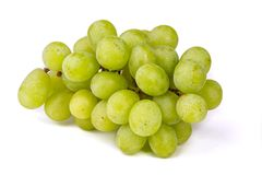 Bunch of grapes. White grapes. Fruit for wine. The perfect addition to cheese. Grape plantation. Oowce for juice. Perfect in diet. royalty free stock photography