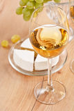 Bunch of grapes and white wine. Still-life with bunch of grapes and white wine royalty free stock photo