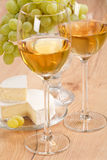 Bunch of grapes and white wine Royalty Free Stock Photo