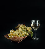 Bunch of grapes and wine Royalty Free Stock Photos