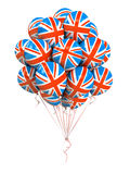 Bunch of Great Britan flag balloons Royalty Free Stock Photos