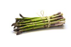 Bunch of green asparagus isolated with shadow on a white backgro Royalty Free Stock Photography