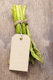 Bunch of green asparagus tied with twine Stock Photography