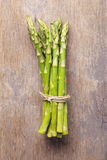 Bunch of green asparagus tied with twine Royalty Free Stock Photo