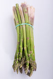 Bunch of green asparagus. On white background Royalty Free Stock Photography
