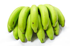 A bunch of green banana bundle Royalty Free Stock Photos