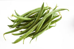 Bunch of green beans. Buch of green beans on isolated backgrounds Stock Photo