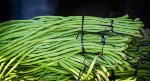Bunch of green beans. Displayed on a marketplace in indonesia Stock Photography