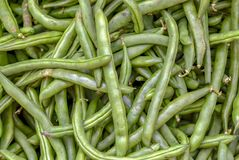 A bunch of green beans stock images