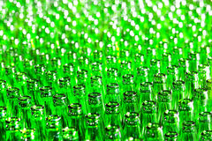 Bunch of green glass bottles Royalty Free Stock Image
