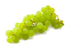 Bunch of green grapes. On a white background royalty free stock photos