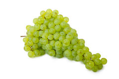 Bunch of green grapes. Isolated on white background Stock Image
