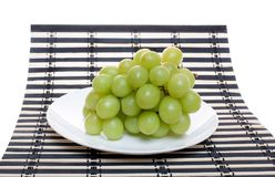 Bunch of green grapes Stock Images