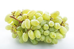 Bunch of green grapes above view Royalty Free Stock Images