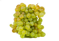 Bunch of green grapes isolated Royalty Free Stock Photos