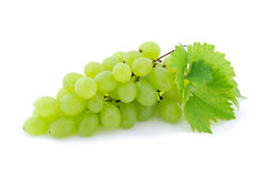 Bunch of Green Grapes laying. Bunch of Green Grapes on white background Royalty Free Stock Image