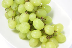 Bunch of Green Grapes on Plate Royalty Free Stock Photo