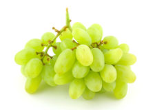 Bunch of green grapes on white Stock Photography