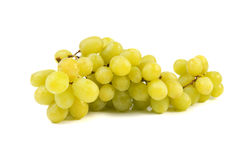 Bunch of green grapes. On white background Royalty Free Stock Images