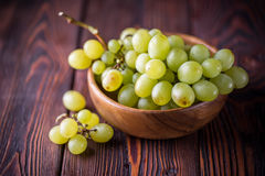 Bunch of green ripe grapes Stock Photo