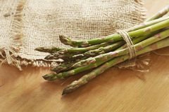 Bunch of a green young asparagus Royalty Free Stock Photo