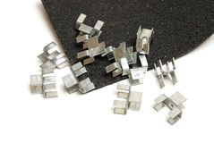 H Clips for Roofs Stock Image