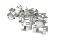 H Clips for Roofs Stock Images