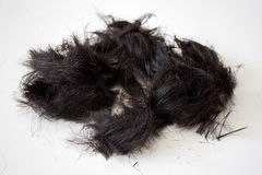 Bunch of hair. A bunch of hair on a white background Royalty Free Stock Photo