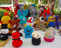 Bunch of hand-made soft toys. Spain Royalty Free Stock Image