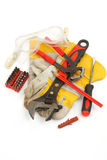 Bunch of hand tools Stock Image